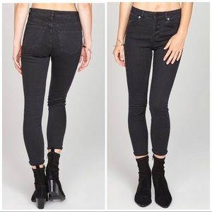Amuse Society Black Sure Thing Button Fly Jeans